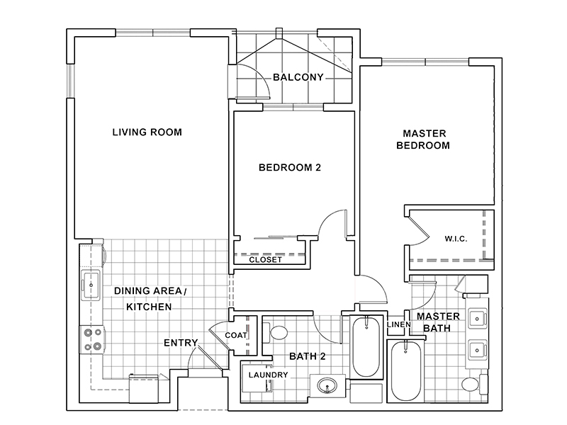 2 Bedroom 2 Bathroom A apartment available today at The Renaissance at City Center in Carson