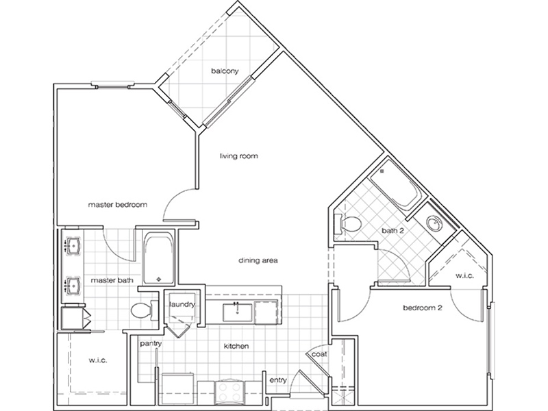 2 Bedroom 2 Bathroom B apartment available today at The Renaissance at City Center in Carson