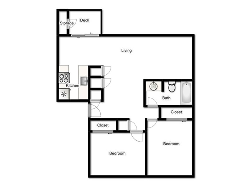 Plan2 apartment available today at Riverbank in Stockton