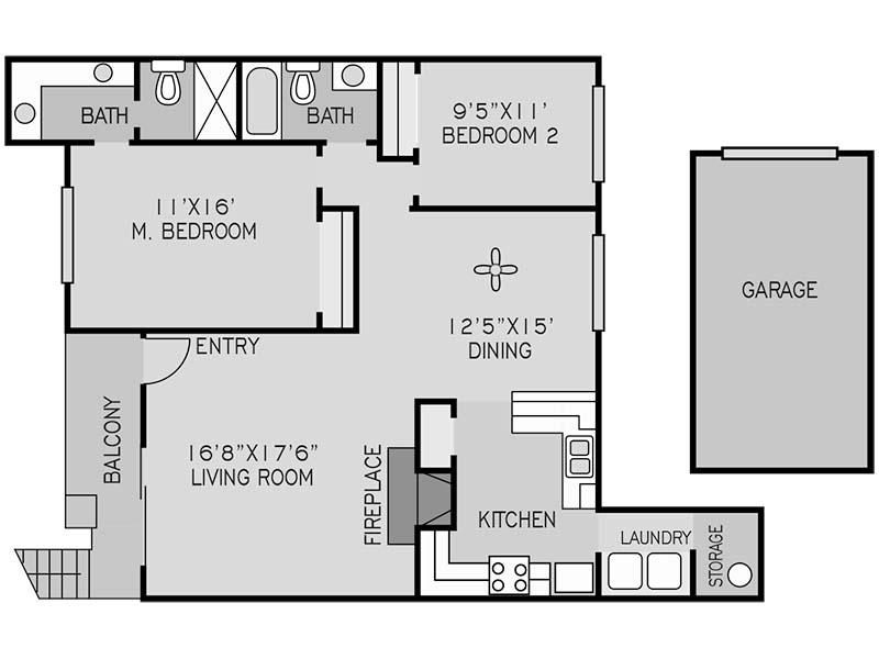 2 BEDROOM UPSTAIRS K apartment available today at The Springs in Fresno