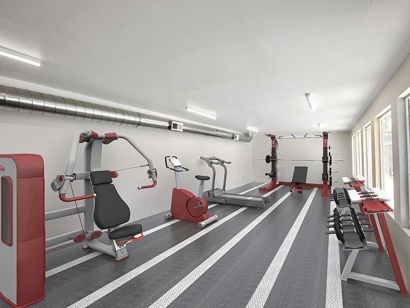 Gym | 454 West Brown Apartments
