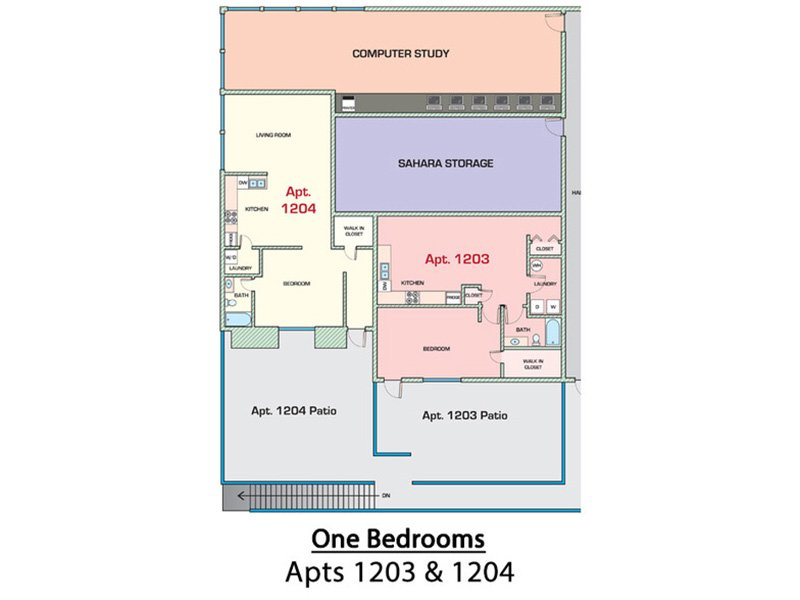1 Bedroom 810 apartment available today at Sahara in Tucson