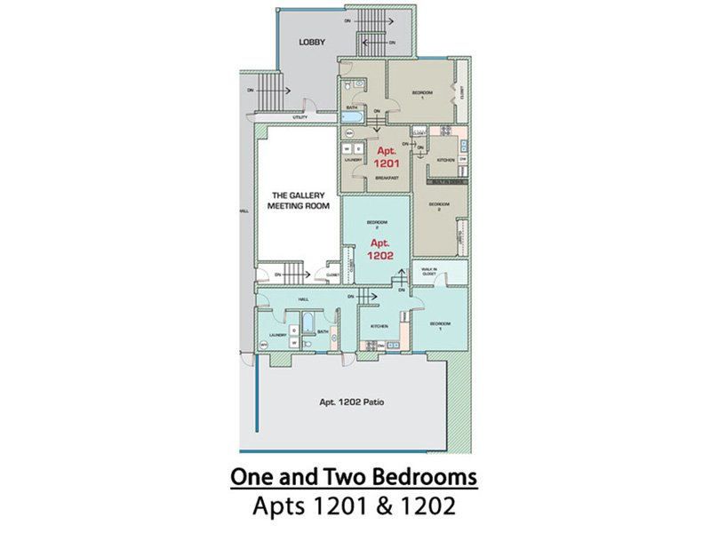 View floor plan image of 2 Bedroom 966 apartment available now