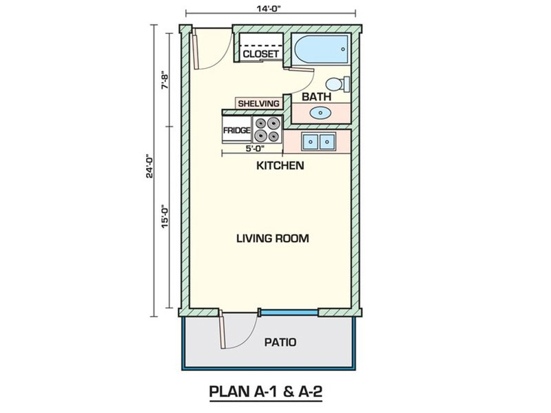 Studio 340A apartment available today at Sahara in Tucson