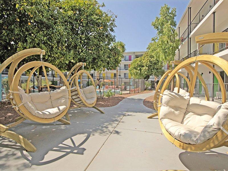 Outdoor Seating | Sahara Apartments in Tucson, AZ