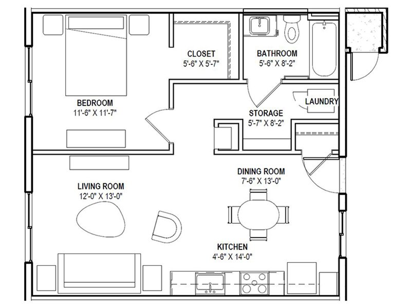 1x1 apartment available today at Urbana on 12th in Phoenix