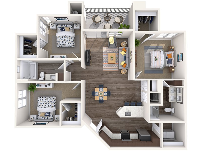 C1 apartment available today at Copper Falls in Glendale