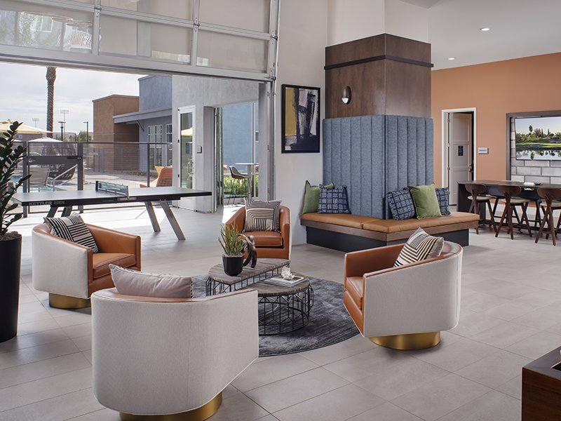 Clubhouse Lobby | Copper Falls Apartments in Glendale, AZ