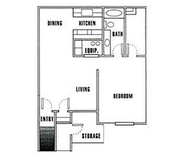 1x1 apartment available today at Driftwood Park in Murray