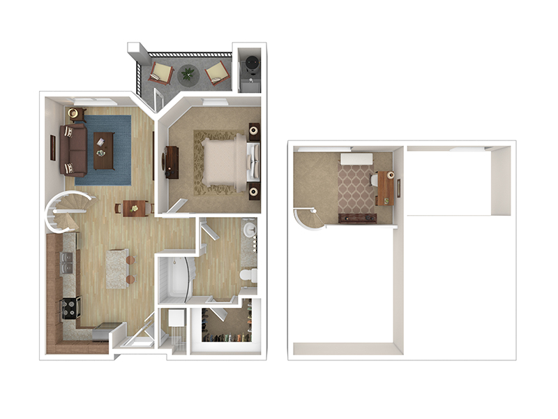 View floor plan image of 1J apartment available now