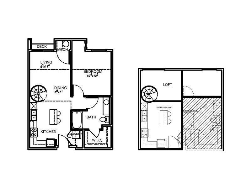 View floor plan image of 1M apartment available now