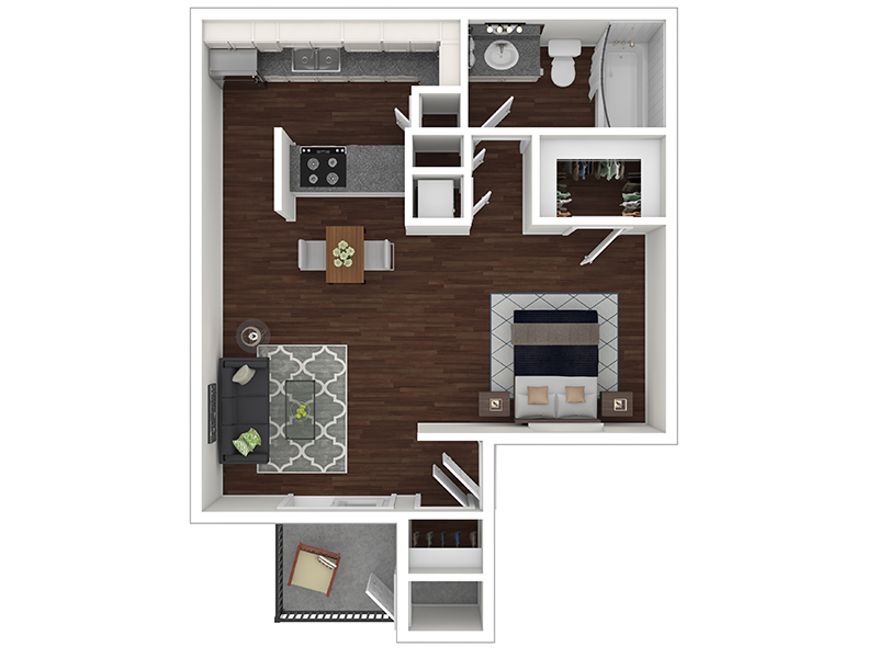 Candlestick Lane Apartments Floor Plan Studio