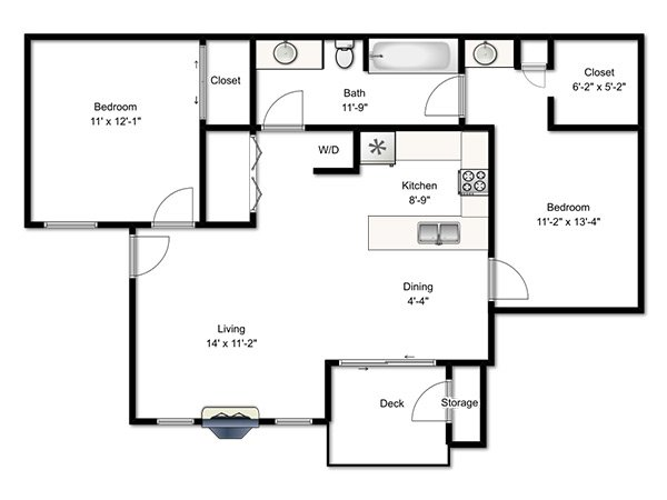 Candlestick Lane Apartments Floor Plan Two Bedroom