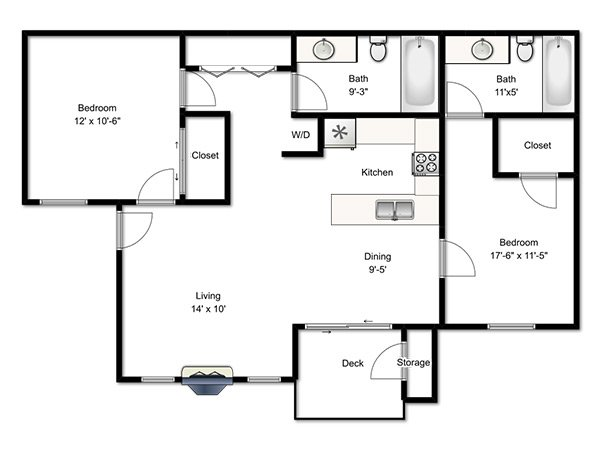 Candlestick Lane Apartments Floor Plan Two Bedroom L