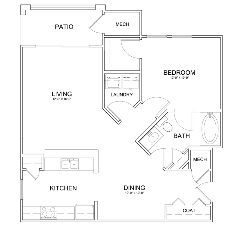 The Park at Southwood Apartments Floor Plan The Camellia