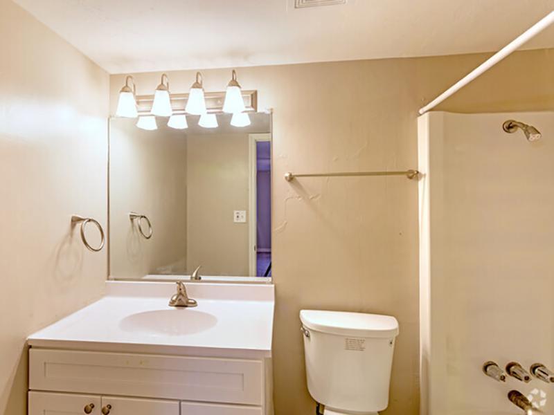 Bathroom | Lodge2765 Apartments