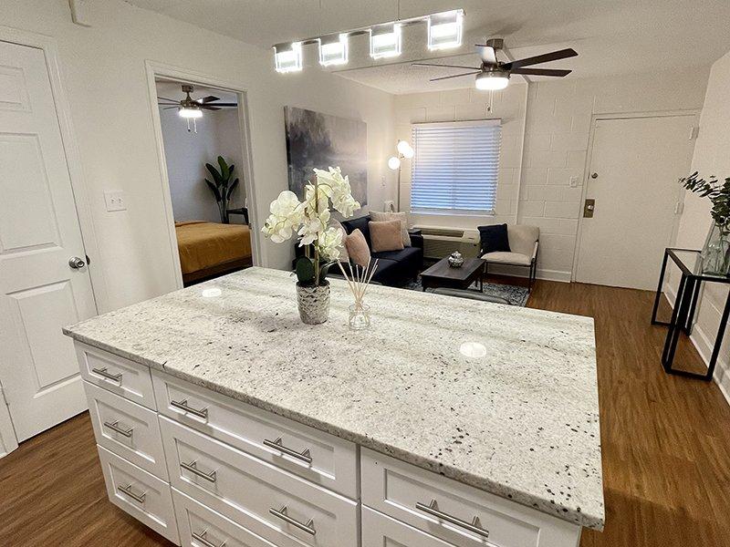 Kitchen & Living Room   The Edge @ 401