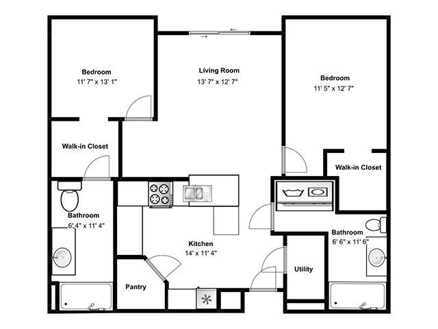 2 Bedroom Apartment Priced At 1215 1024 Sq Ft Avalon Senior Living