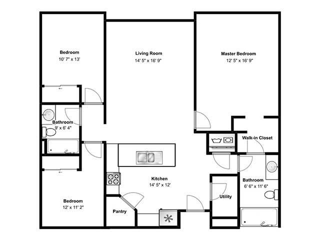 View floor plan image of Santorini apartment available now