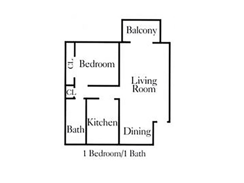 Apartments at Decker Lake Apartments Floor Plan One Bedroom