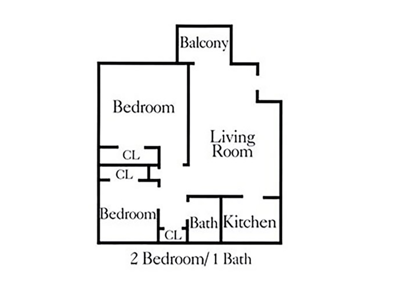 Apartments at Decker Lake Apartments Floor Plan Two Bedroom
