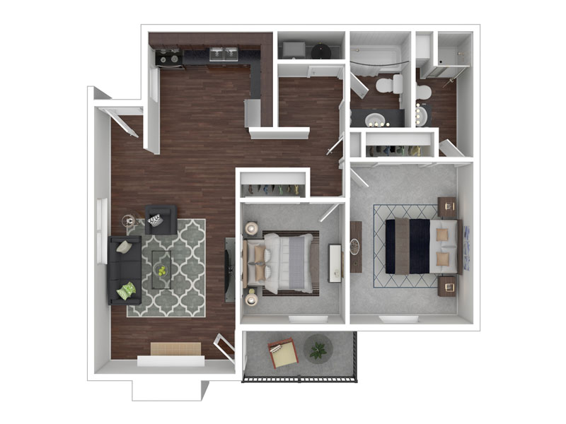 Floor Plans for Sunnyvale Apartments in Murray