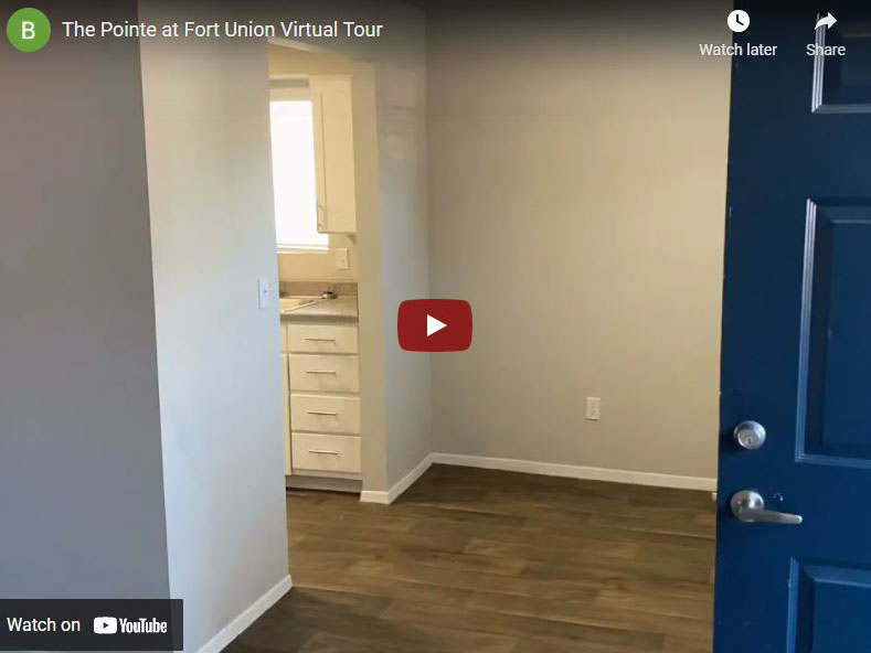 Virtual Tour of The Pointe at Fort Union Apartments