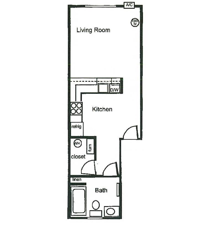 Parkway Commons Apartments Floor Plan Studio