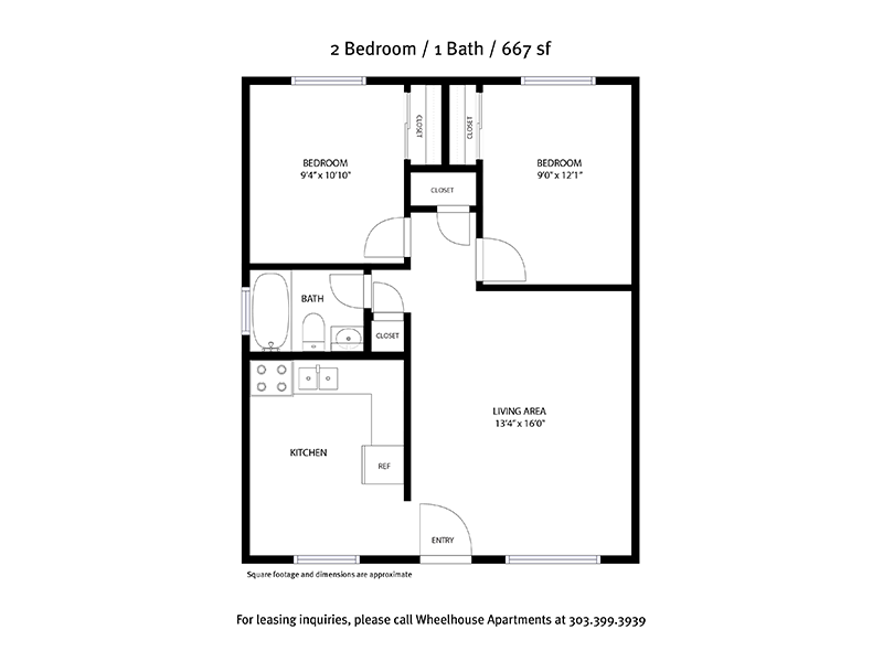 2 Bedroom 1 Bathroom 667sqft apartment available today at Powderhorn in Denver
