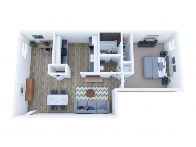 1 Bedroom 1 Bathroom A apartment available today at Lakeview Heights in Lakewood