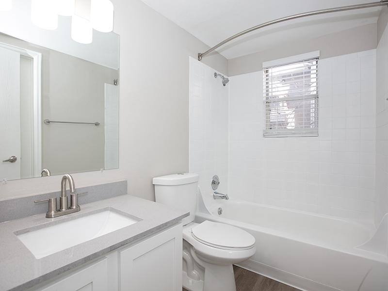 Bathroom | The Station Apartments