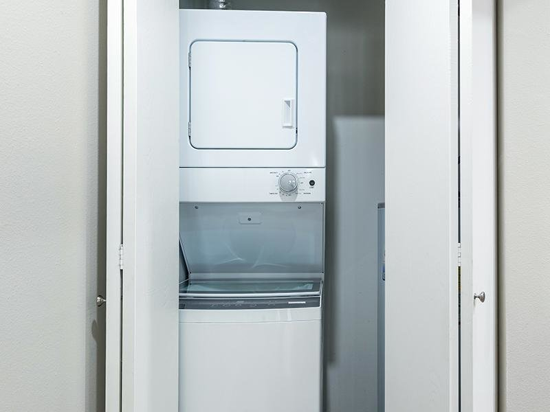 Stacked Washer and Dryer | The Station Apartments