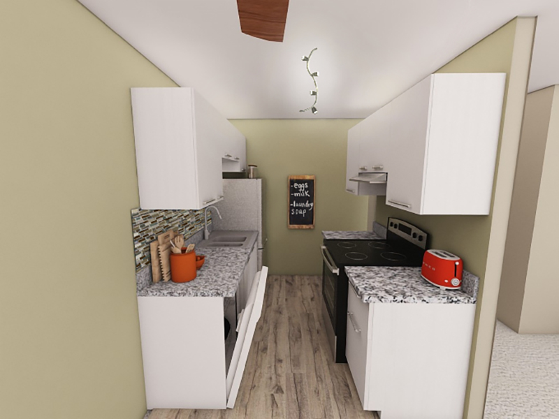 Kitchen - Rendering   Riviera Apartments in Northglenn, CO