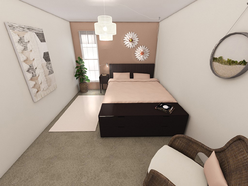 Large Bedroom - Rendering   Riviera Apartments in Northglenn, CO