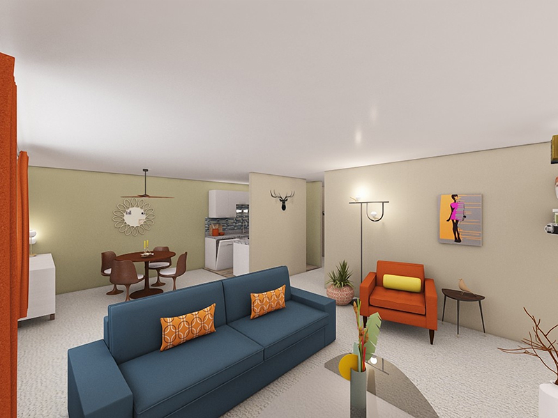 Living Room - Rendering   Riviera Apartments in Northglenn, CO