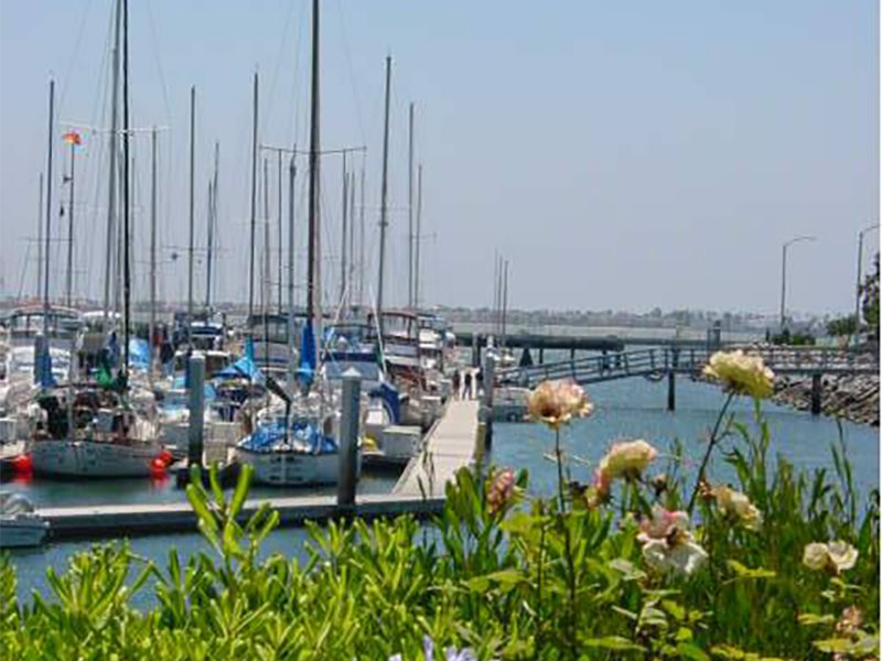 J Street Harbor and Marina nearby Sereno Apartment Community