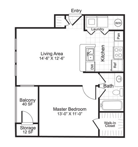 Latitudes Apartments Floor Plan A1