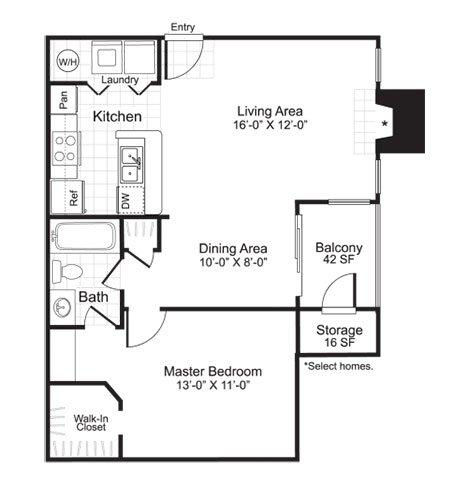 Latitudes Apartments Floor Plan A2