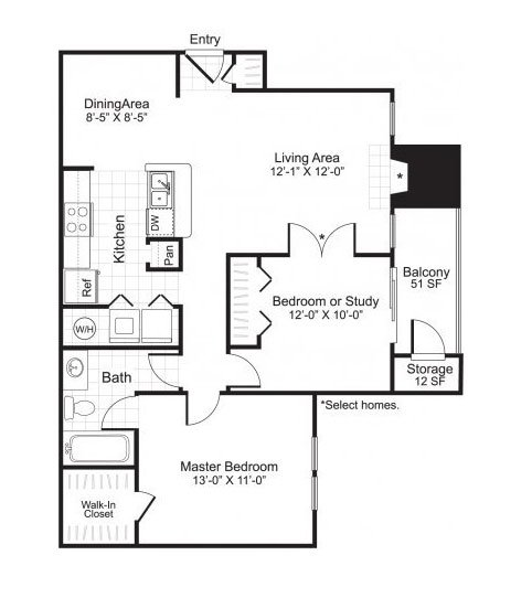 Latitudes Apartments Floor Plan A3
