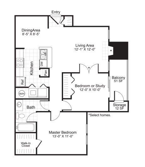 Latitudes Apartments Floor Plan B1