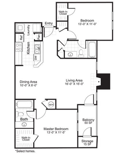Latitudes Apartments Floor Plan B2