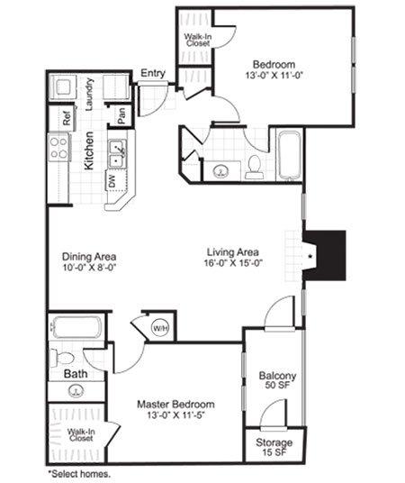 Latitudes Apartments Floor Plan B2