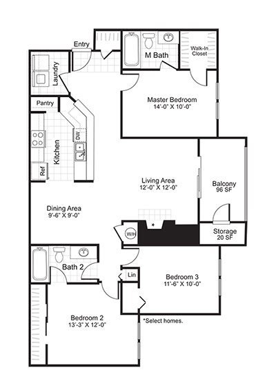 Latitudes Apartments Floor Plan C1