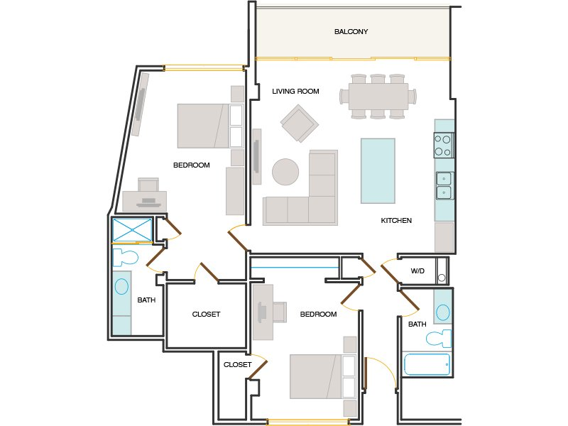 View floor plan image of MARINA apartment available now