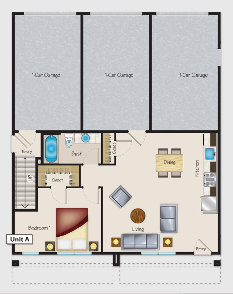 Floor Plans for Brio on Broadway Apartments in Fresno