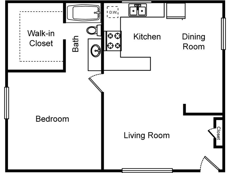1 Bedroom 1 Bathroom (Northside) apartment available today at El Parque Villas in Las Vegas