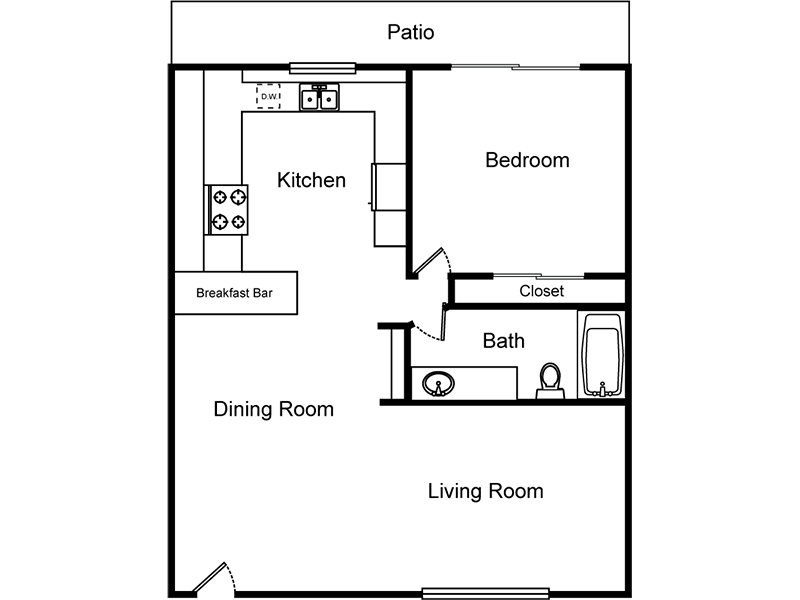 1 Bedroom 1 Bathroom (Southside) apartment available today at El Parque Villas in Las Vegas