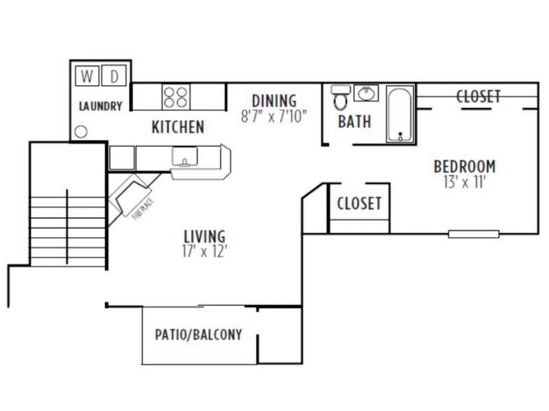 Kensington Crossing Apartments Floor Plan Dogwood