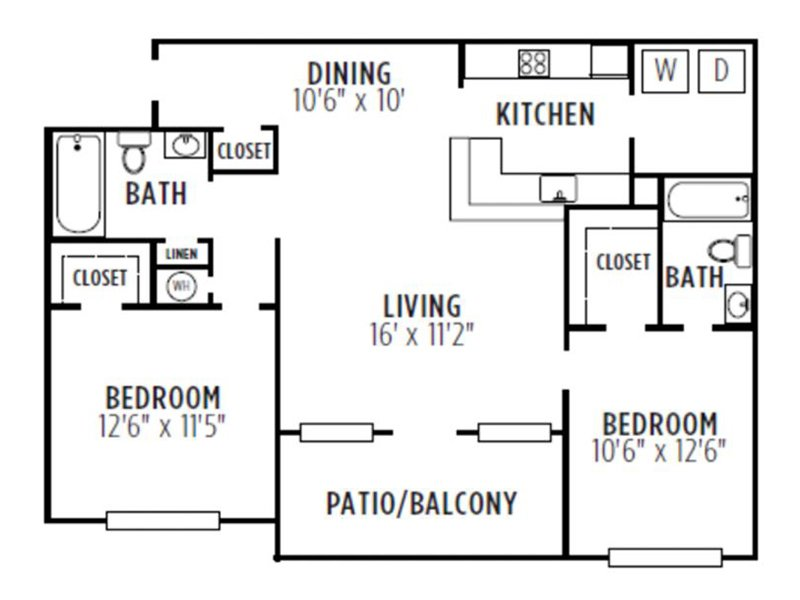 Kensington Crossing Apartments Floor Plan Excaliber