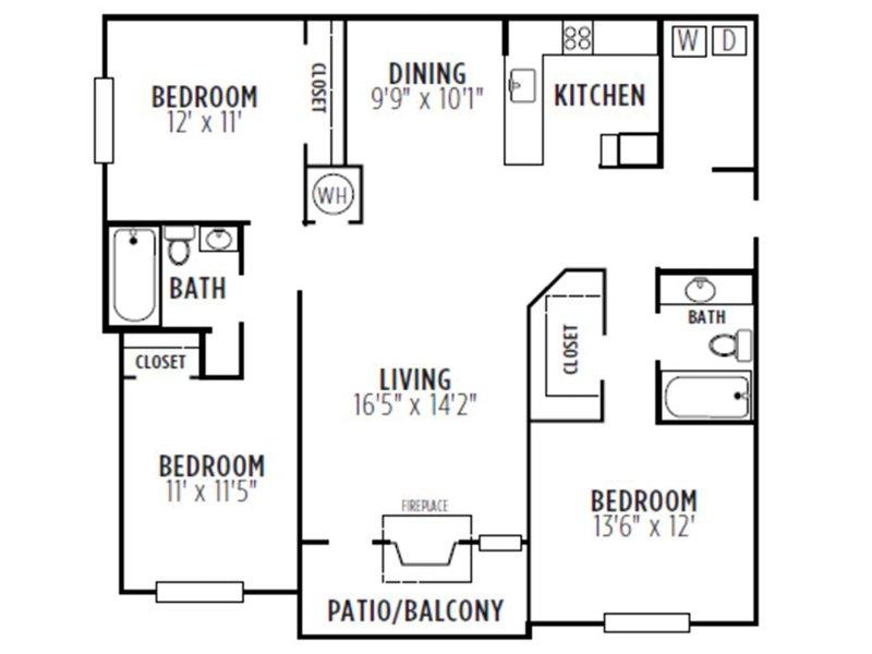 Kensington Crossing Apartments Floor Plan Monarch